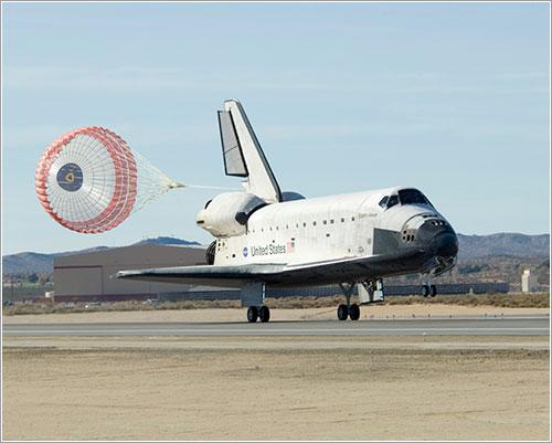 STS126 Endeavour tomando tierra - NASA/Tony Landis