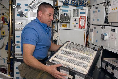 George Zamka en el Endeavour - NASA