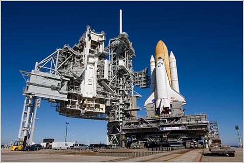 Endeavour/STS-130 en la plataforma - NASA/Amanda Diller