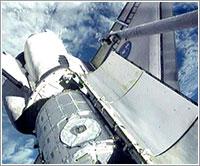 Tranquility en la bodega de carga - NASA TV