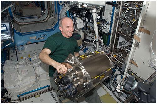 Williams en plena tarea - NASA