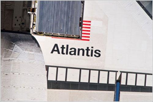 El ala del Atlantis - NASA