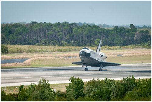 Aterrizaje del Discovery al final de su última misión - NASA/Bill Ingalls