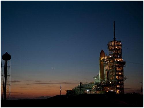Discovery de vuelta en la plataforma el pasado 1 de febrero - NASA/Kim Shiflett