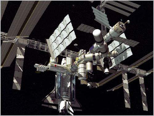 Impresión artística de la ISS en esta configuración - NASA