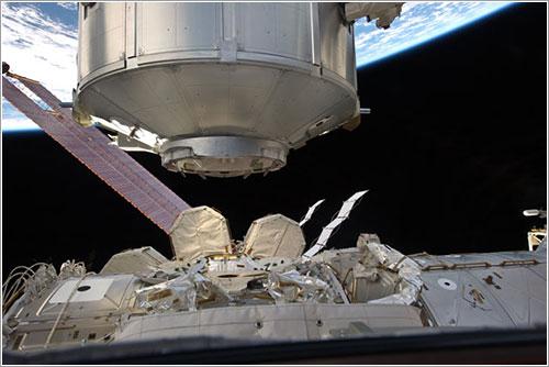 Leonardo a punto de ser instalado - NASA
