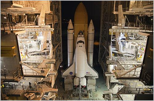 Discovery de vuelta al VAB - NASA/Frank Michaux