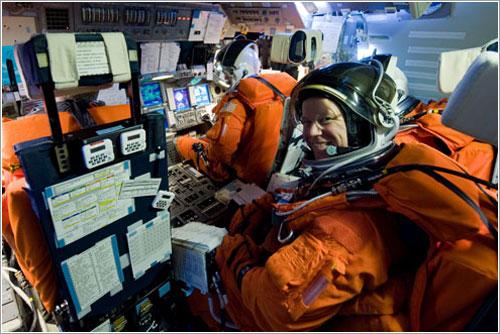 Kopra durante un ensayo del lanzamiento de la misión - NASA
