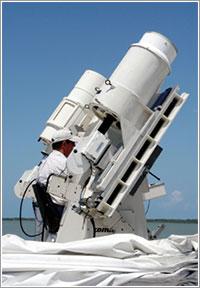 Uno de los sistemas de seguimiento con objetivos de entre 50 y 3.750 mm