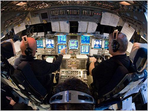 Kelly y Johnson entrenando - NASA