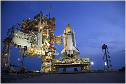 El Atlantis en la plataforma de lanzamiento
