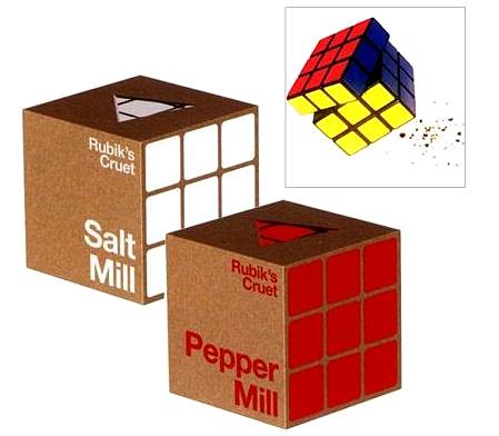 Salero y pimentero de Rubik
