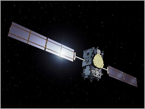 Impresión artística de un satélite del sistema Galileo en órbita