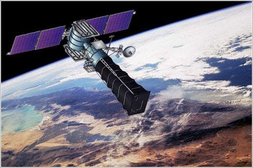 Representación artística de un satélite Oko