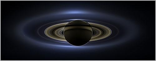 Saturno y la Tierra, julio de 2013