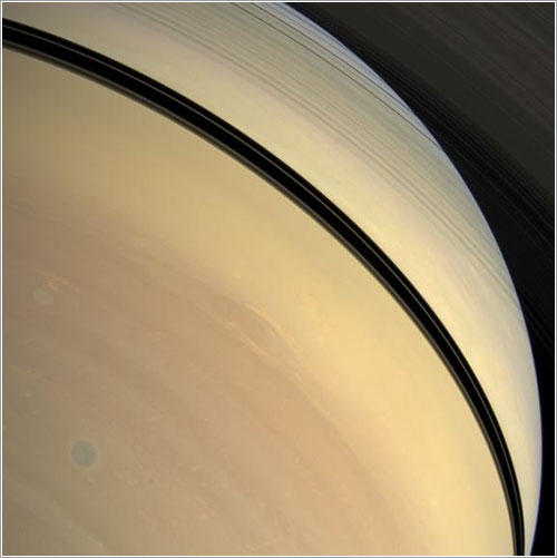 Tormenta azul en Saturno - NASA/JPL/Space Science Institute