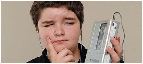 Scott y un Walkman - Foto BBC