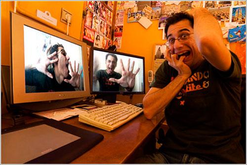 Escritorio de Carlos Cazurro