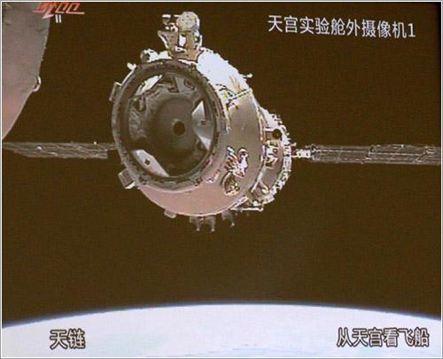 Shenzhou 8 durante la maniobra
