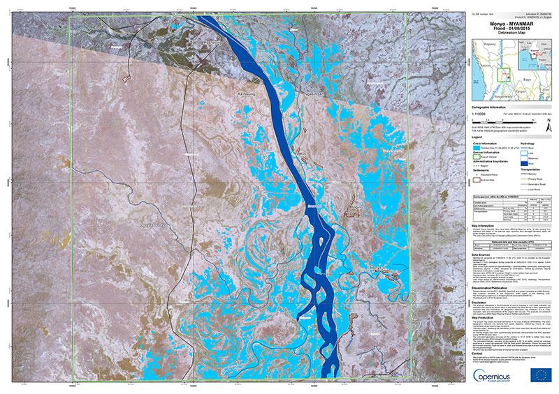 Inundaciones en Birmania