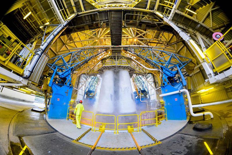 El Soyuz ya cargado de combustible