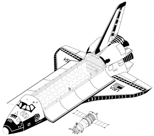Transbordador espacial y Soyuz