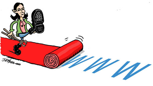 Sinde arrasando. Ilustración de J. R. Mora