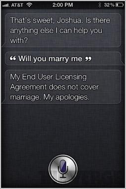 Siri cásate conmigo
