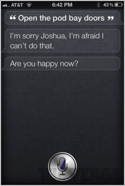 Siri haciendo de HAL