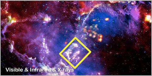 Ubicación de la imagen del Hubble