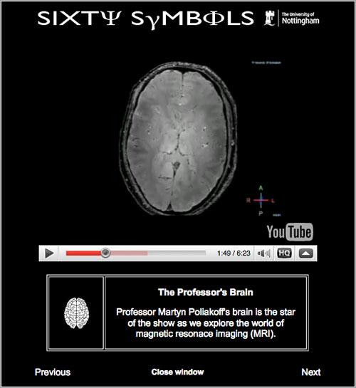 Sixty Symbols por la Universidad de Nottingham