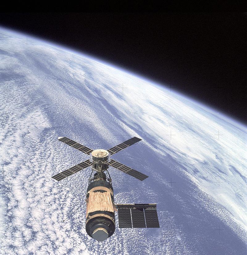 El Skylab fotografiado por su última tripulación