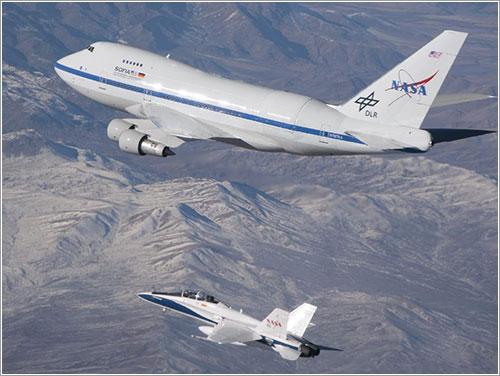 SOFIA en vuelo - NASA/ Jim Ross