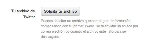 Solicitar archivo en español