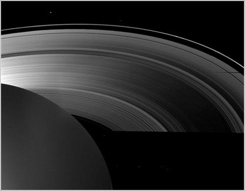Sombras de Saturno en el equinoccio - Cassini Imaging Team, ISS,  JPL, ESA, NASA