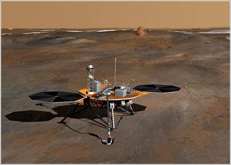 Concepción artística de la sonda en la superficie de Marte