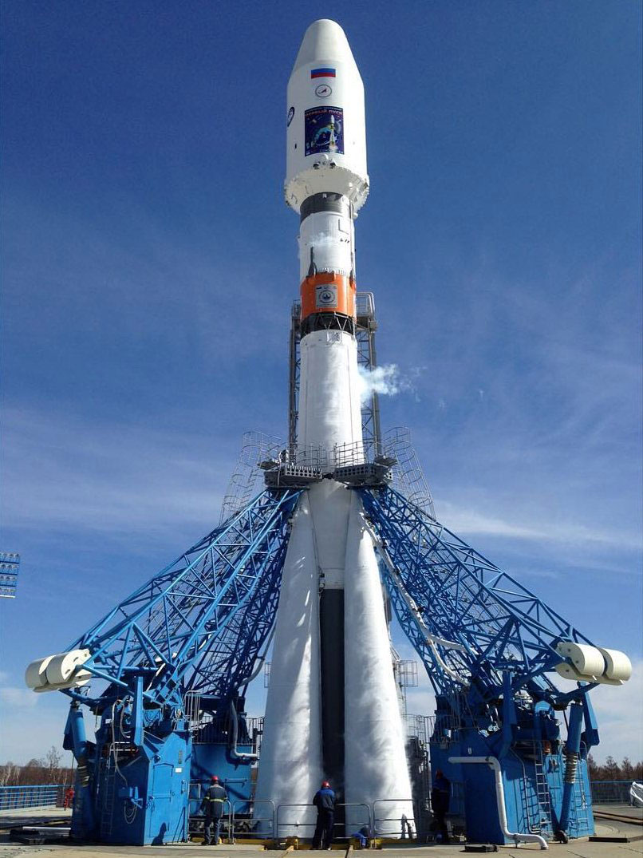 Soyuz listo para el lanzamiento