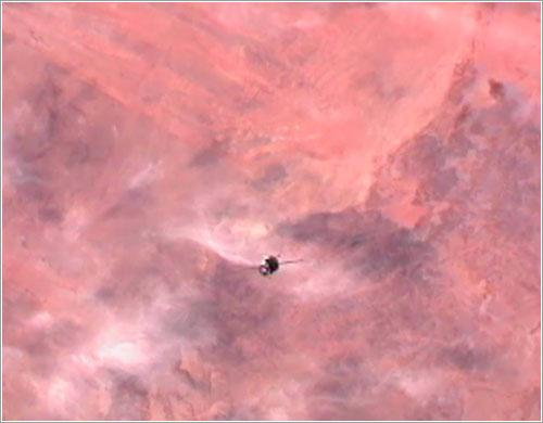 La TMA-03M desde la ISS