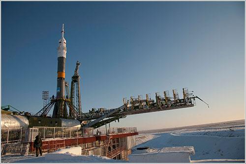 La TMA-03M en la plataforma de lanzamiento / ESA - S. Corvaja