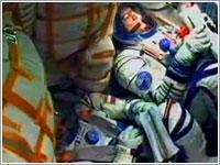 Interior de la cápsula durante el lanzamiento - ESA