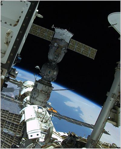 La ISS y la Soyuz