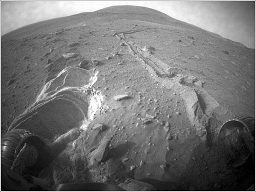 Spirit atrapado - Mars Exploration Rover Mission, JPL, NASA