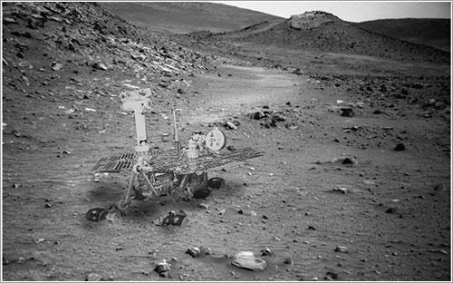 Spirit atascado en Marte - NASA/Stu Atkinson