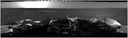 Primer panorama enviado por Spirit NASA/JPL/Cornell