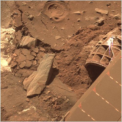Foto del suelo de Marte