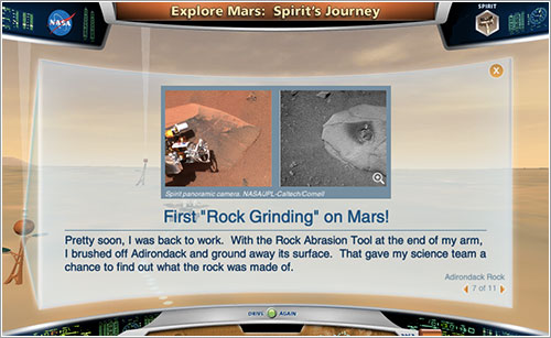 Spirit's Journey - NASA/JPL Caltech