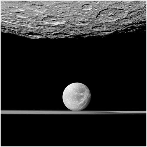 Beyond Southern Rhea - NASA/JPL/Space Science Institute