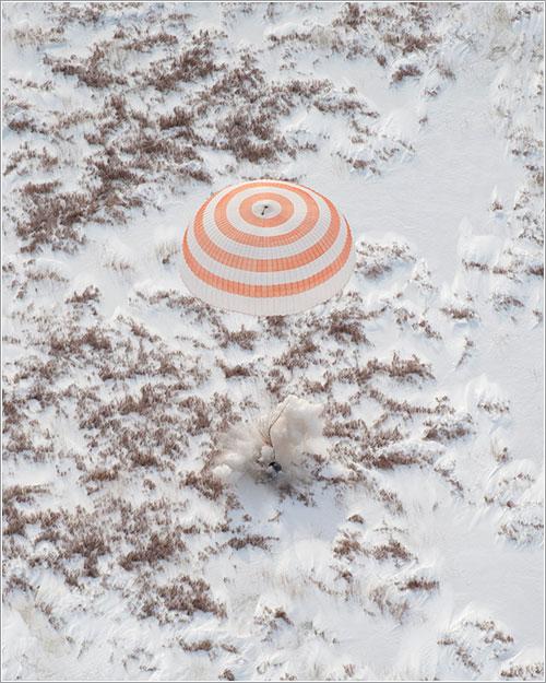 Aterrizaje de la Soyuz TMA-16