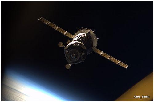Soyuz TMA-16 departing - Soiuchi Noguchi