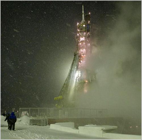 La TMA-22 en la plataforma de lanzamiento
